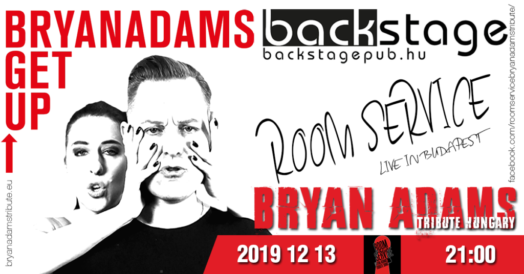 Room Service - Bryan Adams Tribute - koncert - Back Stage Pub - 2019 dec. 13.